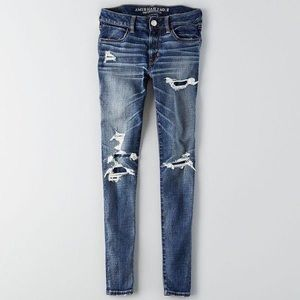 American Eagle 🦅 Destroyed Patch Jeans